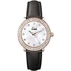 Limit Women's Quartz Watch with White Dial Analogue Display and Pewter/Grey PU Strap 6940.01