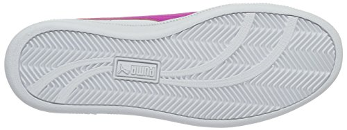 Puma Smash Fun L Jr, Sneakers Basses Mixte Enfant Blanc (Puma White-ultra Magenta 11)