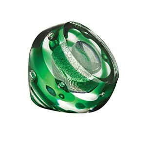 Caithness Glass Crystal Star Bound Paperweight, Green