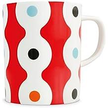 Mug déco en porcelaine Dots - Rouge