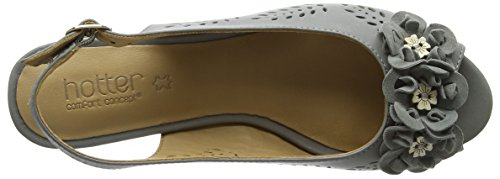 Hotter Betsy, Scarpe Col Tacco Donna Grey (Duck Egg)