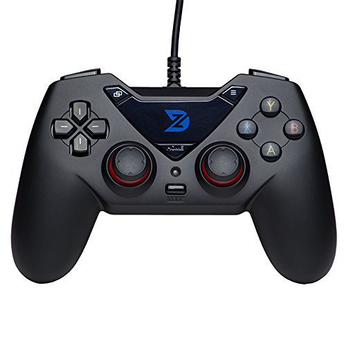 ZD-C USB Wired Gamepad Controller Gamecontroller Joystick für PC (Windows XP/7/8/10) und Playstation 3 & Android & Steam (Black)