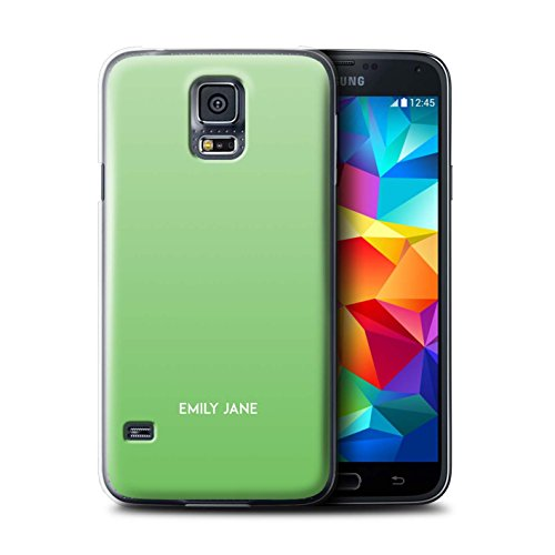 Stuff4 Personalizzato Colori Personalizzati Ombre Custodia/Cover per Samsung Galaxy S5 Neo/G903 / Menta Verde Design/Iniziale/Nome/Testo Caso/Cassa
