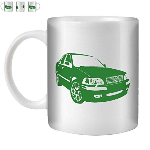 stuff4-tazza-di-caffe-te-350ml-verde-volvo-s40-t4-ceramica-bianca-st10