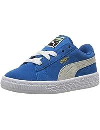 PUMA Baby Suede Kids Sneaker, Snorkel Blue-Puma White, 6 M US Toddler