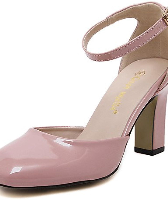 GGX/ Zapatos de mujer-Tacón Robusto-Tacones / Punta Cuadrada / Punta Cerrada-Tacones-Boda / Oficina y Trabajo...