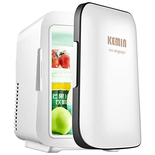 LLUVIAXHAN 4 Liter / 6 können Mini-Kühlschrank Elektrischen Kleinen Kühlschrank Getränke Kühlschrank beweglichen Griff Tiny Retro Kühlschrank für Auto, Autoreisen, Schlafzimmer, Büro-Gebrauch