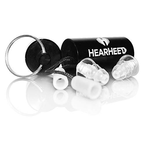 Hearheed High Fidelity-Ohrstöpsel Geräuschunterdrückung - Gehörschutz Ohrstöpsel für Konzerte, laute Live-Musik und mehr - DJs, Clubbers, Motorrad, Reiten, Bauarbeiten, Reisen, Flugdruck -