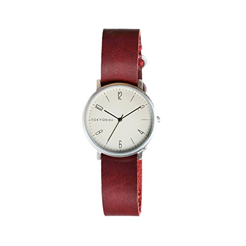 tokyobay-t333-rd-mens-stainless-steel-red-leather-band-white-dial-smart-watch