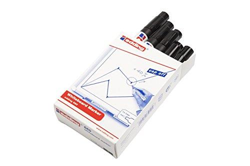 edding 660-001 - Marcador para pizarra blanca, 10 unidades, color negro