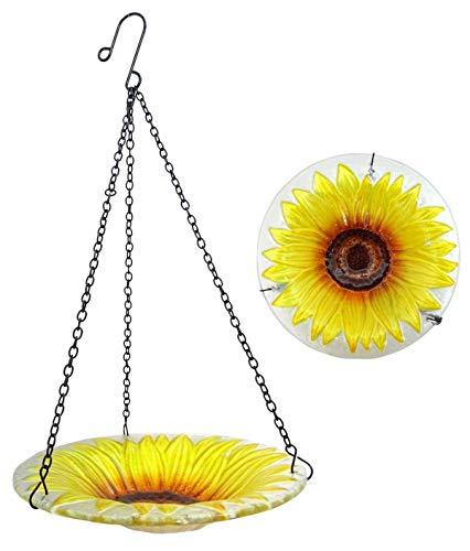 Fountasia Sonnenblumen-Vogeltränke aus Glas