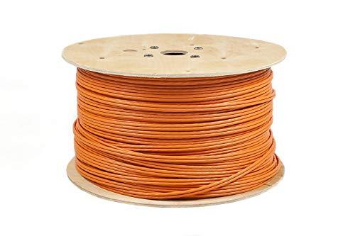 100m Duplex CAT.7 Verlegekabel Gigabit 10Gbit Netzwerkkabel CAT. 7 1000Mhz SFTP S/FTP CAT7 Installationskabel PIMF Kabel CAT7 Netzwerk Verkabelung  LAN Kabel Datenkabel CAT7 4x2xAWG23/1 orange CAT 7