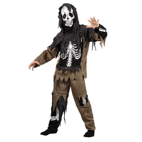 Ideen Halloween Braun Kostüm (Jungen Rotten Skeleton Zombie Karneval / Halloweenkostüm (schwarz, braun) Größe)