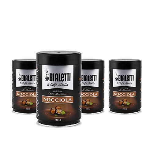 Bialetti Caffè Macinato Nocciola - 4 Confezioni da 250 gr