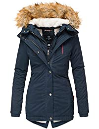 1e527ac0048a Marikoo Akira Damen Winter Jacke Stepp Mantel Parka Winterjacke Warm  gefüttert XS - XXL