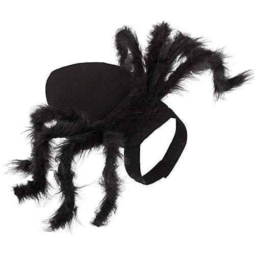 NiQiShangMao Halloween Kostüme für kleine Hunde Spider Dressing Up Kleidung Horror Long Fur Legs Funny Kostüm für Cat - Spider Beine Kostüm Hunde