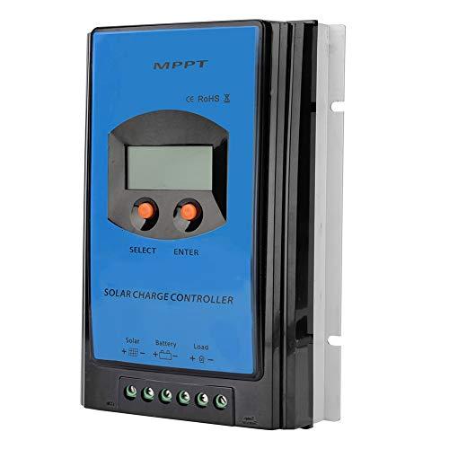 Caredy Solarladeregler, Solarladeregler Batterieladeregler mit LCD-Display MPPT Solarregler Monitor Intelligentes Bedienfeld(45A)