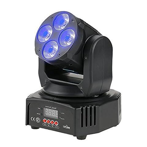 Tomshine DMX512 Éclairage de scène 4 LEDs 60W Mini Lumière à Disco de Tête en Mouvement RGBW 16/18 Canal 4 modes de contrôle Lumière d'ambiance pour Disco KTV Club Fête Bar DJ