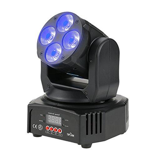 Tomshine 60W 4 LEDs Moving Head,Bühnenlicht, Disco Lampe,DMX512 Disco Licht,16/18 Kanäle, 4 Steuerungsmodi für Party Pub Bar Hochzeitszeremonie