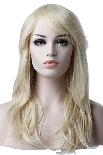 S-noilite® Perruque Cheveux synthétiques Femme Longue en couches layered Pour La vie quotidienne Cosplay Déguisement Costume - Couleur:Blond très clair