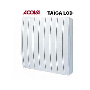 Radiateur à fluide caloporteur Acova Taïga LCD Puissance:1750 W Couleur: Blanc