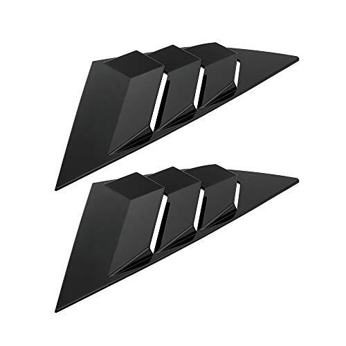 KKmoon Auto Heckscheibengitter Heckscheibenvorhang Seite Tuyere Louvers Vent für Ford Focus ST RS MK3 Schrägheck Kohlefaser Style (Schwarz)