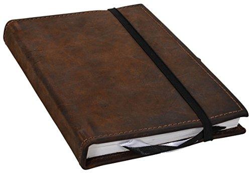Notizbuch aus Leder Gusti Leder studio \'\'Riana\'\' DIN A5 Blanko Schwarz 2P40-24-13