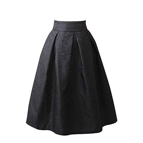 Kleider Damen, Marlene Frauen Elegant Bedruckter Rock mit Faltenrock und hohem Taillenrock Minikleid Abend Party Cocktailkleid Damenkleider