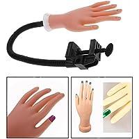 Cisixin Mano De Caucho Dedos De Práctica Flexible Manicura,para Práctica del Arte del Clavo Manicura