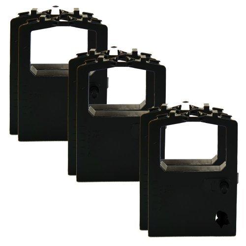 6Stück Farbband Ersatz für Okidata 320420Turbo 5210200152104001(Laserstrahlgeschweißt, Schwarz)