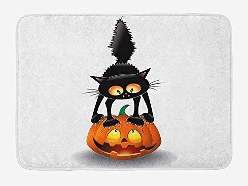 College Humor Halloween - KLYDH Halloween Bath Mat, Black Cat