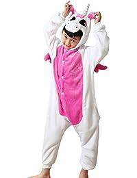 DEBAIJIA Pijama Animal Para Niños Niñas Disfrace Cosplay Franela Traje del Anime Invierno Calentito Pyjamas Navidad Onsie
