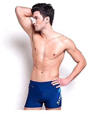Lelefish hombres de natación Natación profesional shorts shorts XL, XXL azul tibetano