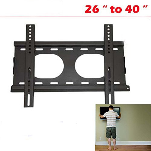 AMPEREUS Iron Universal Wall Mount Heavy Duty Stand for LCD TFT Plasma TV -Screen, 26-42 inches (Black, Wallmount02)