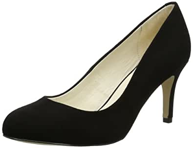 Buffalo London 113-2879-1 KID SUEDE, Damen Pumps, Schwarz (BLACK 01), 36 EU