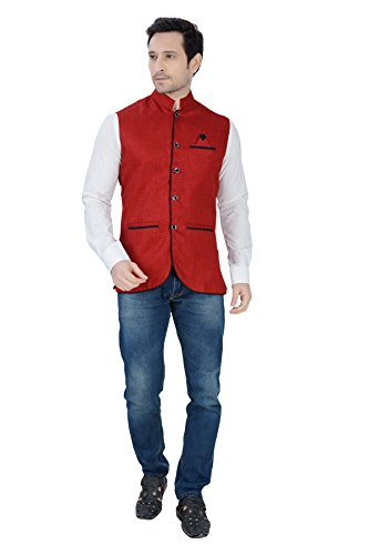 Nu-Abc-Garments-Red-Nehru-Jacket-For-Mens
