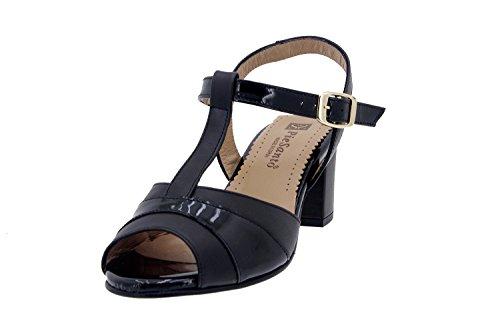 Chaussure femme confort en cuir Piesanto 4494 sandale confortables amples Noir