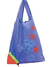 Designeez Hot Fashion Cute Strawberry Foldable Reusable Shopping Storage Bag Women Travel Grocery Bags Tote (Purple)