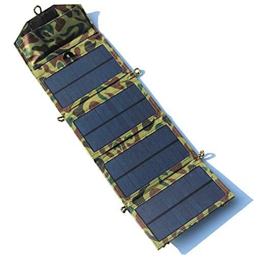 JAYLONG 7W Faltbare Solar-Panel, Tragbare 5V-Sicherheits-Solar-Ladegeräte Für Outdoor-Handys Aufladen Und Andere Moblie-Geräte,Camouflage - Portable-rv-generator
