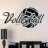 Yyoutop Diseño Simple calcomanías de Pared de Vinilo decoración del hogar salón Dormitorio Arte Bola de Voleibol Deporte Pegatinas murales 56x28 cm