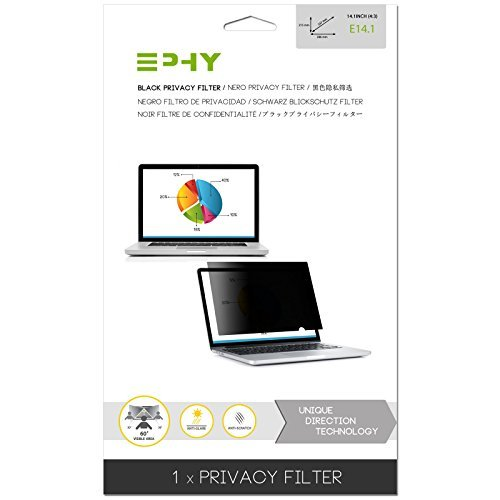 EPHY Privacy Filter / Anti-Glare / Screen Protector for Laptop TFT Monitor Desktop PC LCD LED Screen - Compatible with Apple iMac Macbook DELL SAMSUNG ACER V7 3M IBM LENOVO HP COMPAQ AOC ACER ASUS SHARP LG NEC (14.1