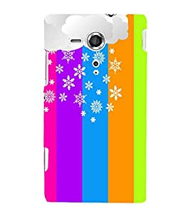 Rangoli Pattern Design 3D Hard Polycarbonate Designer Back Case Cover for Sony Xperia SP :: Sony Xperia SP M35h