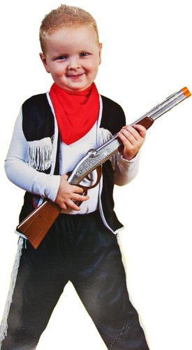 Kinder Cowboy-Kostüm 3-tlg. Sheriff-Verkleidung 3-5 Jahre Wilder-Westen Karneval Fasching Halloween Jungs Mädchen (Doppel Halloween Kostüme Für Kinder)