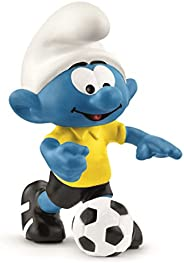 Schleich Football Smurf With Ball, Multi-Colour, 5.4 x 3.6 x 3.2 cm
