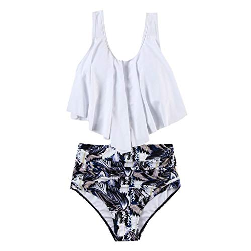 ALISIAM Damen Sexy Bikini High Waist Bademode Geteilter Badeanzug Push up Bikini Sets Zweiteiler Strand Swimwear Swimsuits Mode Boho Bikinis Beachwear Tank top + Slim Shorts 2 Pcs Sets -