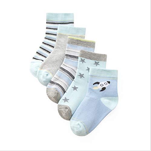 DCPPCPD Socken Kinder 5 Paar Kisten Baumwolle Cute Wärme Verdickung Atmungsaktivität Weichheit Komfort Zylinder 1-12 Jahre Alt, L