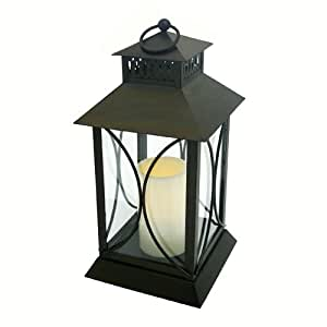 Flipo Pacific Accents Neuporte Indoor/Outdoor Lantern with Flameless Resin Candle, Oil Rubbed Bronze Finish by Flipo Pacific Accents