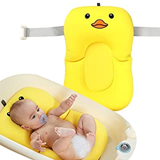 Baby Bath Support Cushion Pad , Newborn Infant Toddler Bath Float Anti-Slip Bath Pad Sponge Mat Floating Soft Baby Bather Lounger Bathtub Shower Mesh Comfy Safe Summer Sink Pad for 0-6 Month by Asdomo