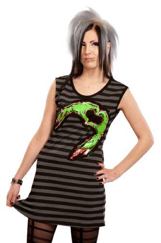 Cupcake Cult Kleid HEART 'N STIEN DRESS black Schwarz S