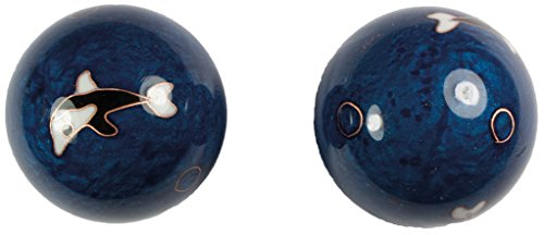 Meditation Qi-Gong-Kugeln mit Klangwerk | Klangkugeln | Yin Yang | Design Delfin | verschiedene Durchmesser (Ø 45 mm)